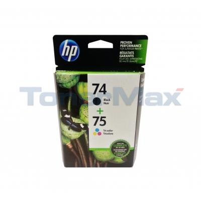 HP NO 74 75 INK CTG BLACK/TRICOLOR COMBO PACK